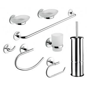 Set accessori bagno 8 pezzi serie otto/one