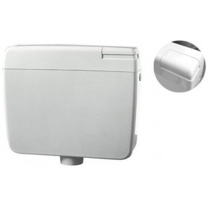 Cassetta di scarico zaino dianflex zeta 3 con tasto stop bianca - 9lt