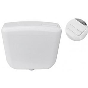Cassetta scarico dianflex a zaino con doppio pulsante eco bianca 3-6 lt