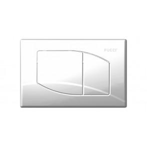 Placca per cassetta incasso pucci eco 2 pulsanti rombo 2011 cromo