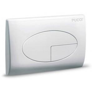 Placca per cassetta incasso pucci eco 2 pulsanti mod.2011 bianca