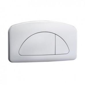 Placca 2 pulsanti per cassetta modello sirena bianca