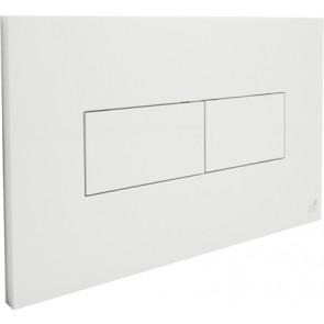 Placca per cassetta ad incasso idea 2 pulsanti bianca