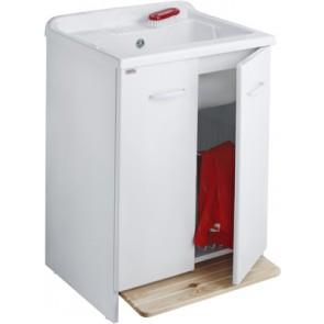 Lavatoio con mobile idrofugo e cesto estraibile l cm 60 x p cm 60