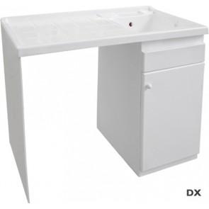 Lavatoio coprilavatrice con vasca a sinistra 60 x 108 x h 90