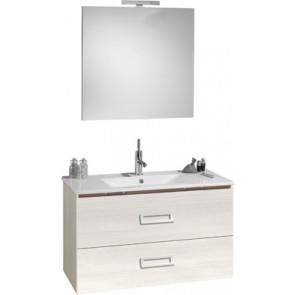 """Mobile bagno sospeso """"fantasy"""" con lavabo e specchio cm90 grigio matrix"""