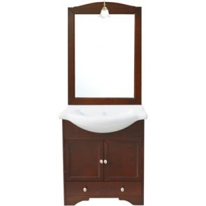 Mobile bagno monique con lavello integrato e specchio 75 cm 75
