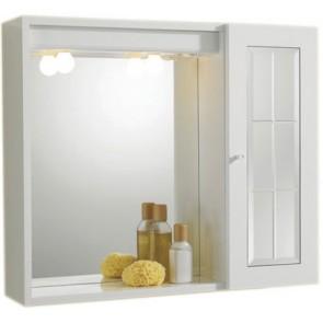Specchiera mod. orfeo bianca 1 anta a specchio 60,5 x 16 x 72