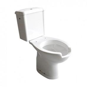 Vaso e cassetta monoblocco per disabili scarico a muro