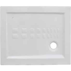 Piatto doccia in ceramica rettangolare althea cm 80 x 100 h 5.5