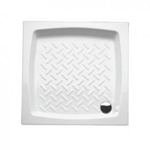 Piatto doccia quadro in ceramica althea h.11 cm 80X80