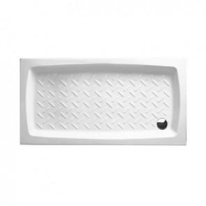 Piatto doccia in ceramica rettangolare althea h. 11 cm 80x120