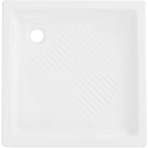 Piatto doccia quadro 2° scelta in ceramica linea cc cm 65 x 65 h 10