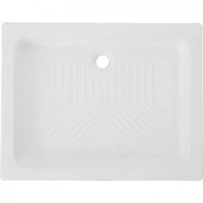 Piatto doccia rettangolare 2° scelta in ceramica linea cc cm 70 x 120 h. 10