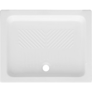 Piatto doccia rettangolare in ceramica dianflex cm 80 x 100 h 10