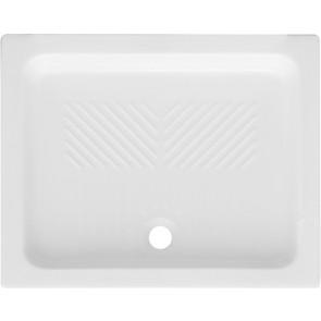Piatto doccia rettangolare in ceramica dianflex cm 80 x 120 h 10