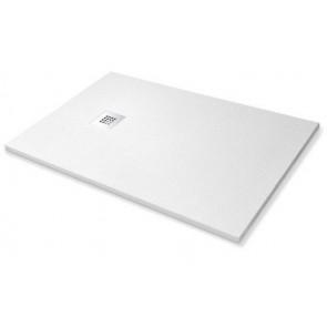 Piatto doccia simil-stone bianco cm 80x120