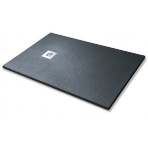 Piatto doccia simil-stone nero cm 80x100