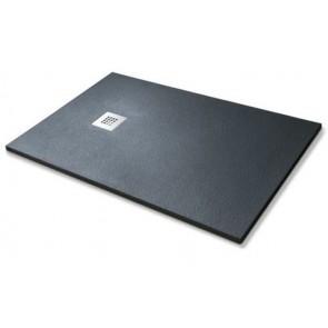 Piatto doccia simil-stone nero cm 80x120