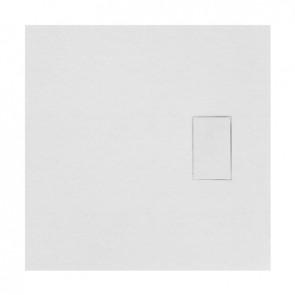 Piatto doccia stone essence slim quadro bianco 80 x 80