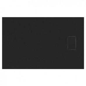 Piatto doccia stone essence slim rettangolare nero cm 80 x 100