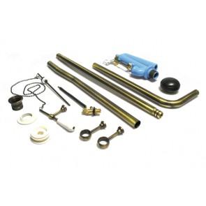 Set tubo + catena + meccanismo per cassetta alta royal cromo