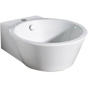 Lavabo d' appoggio center cm 53x44 althea bianco