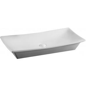 Lavabo d'appoggio mod. la24 cm 80 x 39.5 bianco
