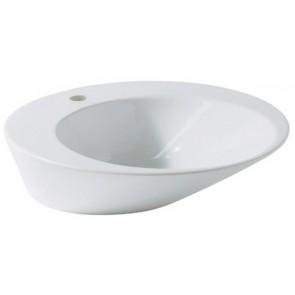 Lavabo d' appoggio edge tondo 54 x 54 bianco
