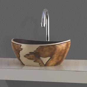 Lavabo d'appoggio artistico mod. lza04 cm 41,5 x 34 x 17