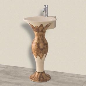 Lavabo artistico mod. lza12 + colonna lavabo cm 52x45 + colonna