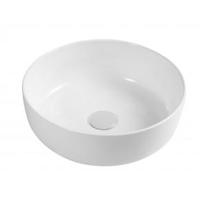 Lavabo d'appoggio slim mod. 01 dm 330 bianco