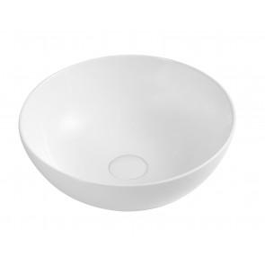 Lavabo d'appoggio slim mod. 02 dm 385 bianco h150