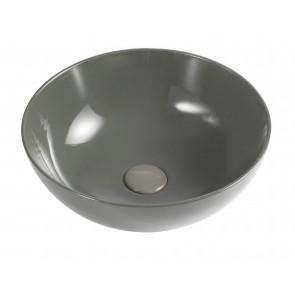 Lavabo d'appoggio slim mod. 02 dm 385 grigio cem h150