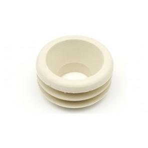 Morsetto gomma bianco per canotti 32