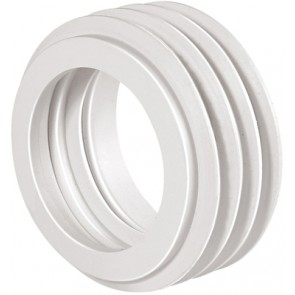 Morsetto per wc d. 55 bianco diam. int. 40/44 mm