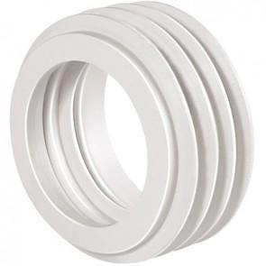 Morsetto per wc bianco D. 60 mm  - D. int. 40/44