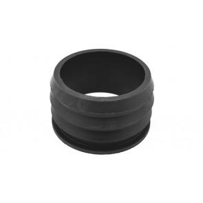 Morsetto in gomma nera per tubo pvc diam. est. 110