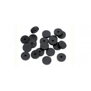 """Guarnizione per rubinetto semiforate in gomma nera 1/2"""""""
