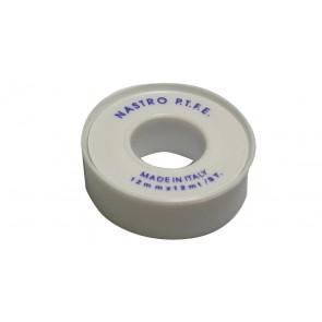 Rotolino nastro teflon p.t.f.e. economico mt 12 mm 12