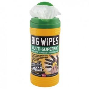 """Salviette lavamani pz.80 """"big wipes"""" con tappo verde verde"""