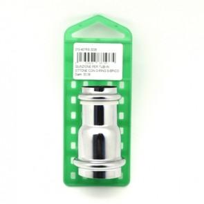Giunzione per tubi in ottone con o-ring s-brico diam. 40-32