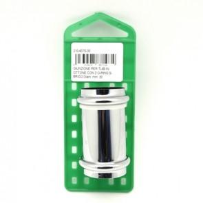 Giunzione per tubi in ottone con 2 o-ring s-brico diam. mm. 32