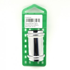 Giunzione per tubi in ottone con 2 o-ring s-brico diam. mm. 26