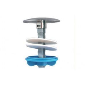 Copriforo in plastica per lavabo-bidet d.55 cromo