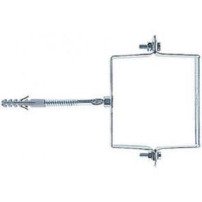 Collari fischer in acciaio zincati quadri scp q 80 x 80