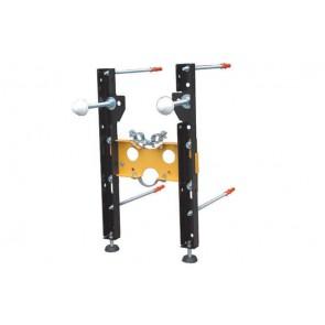 Staffa di fissaggio premontata per bidet sospesi interasse 180-230 mm.