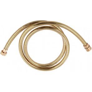 Flessibile doccia in pvc dorato con attacco conico cm 200