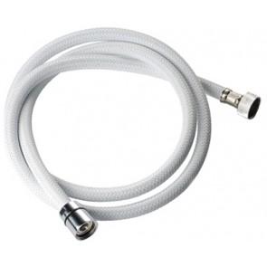 Flessibile per doccia in nylon bianco cm 150