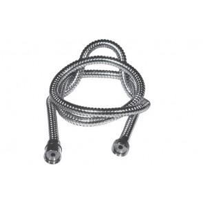 Flessibile per doccia con doppia aggraffatura attacco conico mt. 1,50
